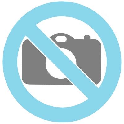 Collier symbole 'Double cœur' en 14 carats or (avant zirconium blanc, arrière zirconum noir)
